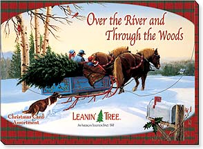 Boxed Christmas Assortment<BR/>2 ea. of 10 designs - Over the River and Through the Woods - 90259 | Leanin' Tree