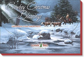 Boxed Christmas Assortment<BR/>2 ea. of 10 designs - Cowboy Christmas Blessings - 90261 | Leanin' Tree