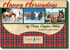 Boxed Christmas Assortment<BR/>2 ea. of 10 designs - Happy Horseydays - 90264 | Leanin' Tree