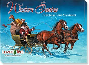 Boxed Christmas Assortment<BR/>2 ea. of 10 designs - Western Santas - 90266 | Leanin' Tree
