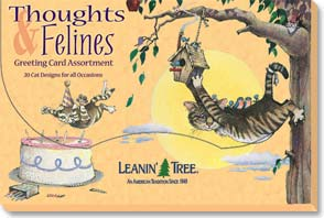 Boxed Greeting Cards<BR/>1 each of 20 designs - Greeted Card Assortment | Thoughts & Felines - 90603 | Leanin' Tree