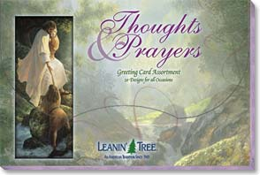 Boxed Greeted Cards<BR/>1 each of 20 designs - Greeted Card Assortment | Thoughts & Prayers - 90615 | Leanin' Tree