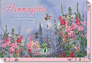 Boxed Blank Cards<BR/>2 each of 10 designs - Blank Card Assortments | Hummingbirds - 90633 | Leanin' Tree