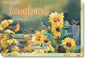 Boxed Blank Cards<BR/>2 each of 10 designs - Blank Card Assortments | Susan Bourdet's Songbirds - 90634 | Leanin' Tree