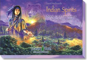 Boxed Blank Cards<BR/>2 each of 10 designs - Indian Spirits - 90638 | Leanin' Tree