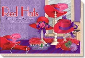 Boxed Greeted Cards<BR/>1 each of 20 designs - Greeted Card Assortment | Red Hats - 90645 | Leanin' Tree