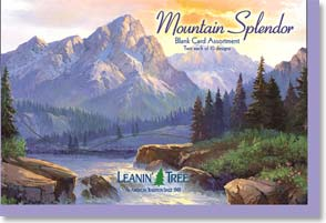 Boxed Blank Cards<BR/>2 each of 10 designs - Blank Card Assortment| Mountain Splendor - 90648 | Leanin' Tree