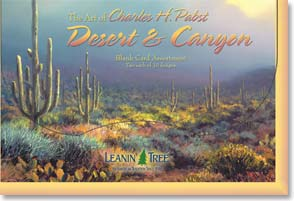 Boxed Blank Cards<BR/>2 each of 10 designs - Charles Pabst Desert & Canyon  - 90653 | Leanin' Tree