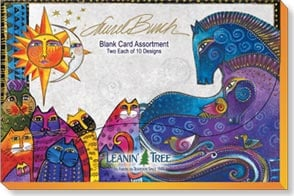Boxed Blank Cards<BR/>1 each of 20 designs - Blank Card Assortment | Laurel Burch - 90696 | Leanin' Tree