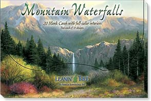 Boxed Blank Cards - Blank Card Assortment | Mountain Waterfalls - 90703 | Leanin' Tree