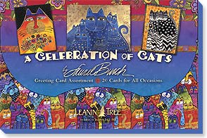 Boxed Greeted Cards<BR/>1 each of 20 designs - Celebration of Cats by Laurel Burch - 90730 | Leanin' Tree