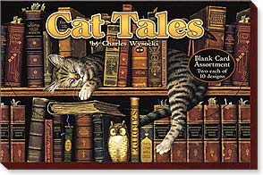 Boxed Blank Cards<BR/>2 each of 10 designs - Cat Tales by Charles Wysocki - 90737 | Leanin' Tree