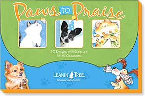 Boxed Greeted Cards<BR/>1 each of 20 designs - Paws to Praise - 90755 | Leanin' Tree
