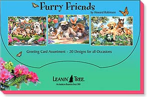 Boxed Greeted Cards<BR/>1 each of 20 designs - Furry Friends by Howard Robinson - 90759 | Leanin' Tree