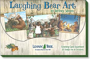 Boxed Greeted Cards<BR/>1 each of 20 designs - Laughing Bear Art by Jeffrey Severn - 90760 | Leanin' Tree