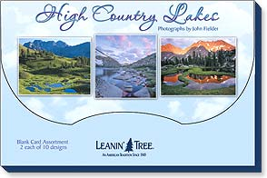 Boxed Blank Cards<BR/>2 each of 10 designs - High Country Lakes by John Fielder | John Fielder | 90765 | Leanin' Tree