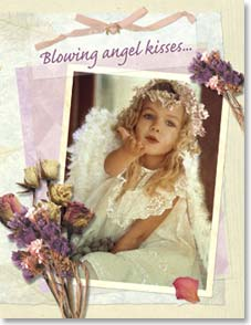 Birthday Card - Blowing Angel Kisses and Birthday Wishes - 91246 | Leanin' Tree