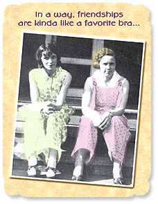 Friendship Card - A good friendship is like a favorite bra... | Maggie Mae Sharp | 91281 | Leanin' Tree