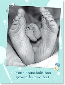 Baby Congratulations Card - Use the new little toes to count your blessings! | Karen Frasco | 91413 | Leanin' Tree