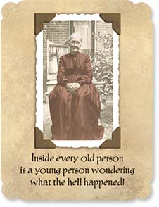 Birthday Card - Inside Every Old Person | Maggie Mae Sharp | 91522 | Leanin' Tree