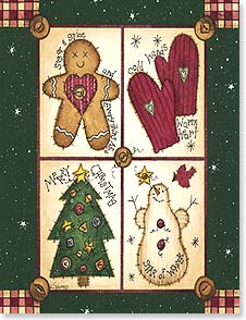 Christmas Note Card Set<BR/>12 of 1 design - Wishing you every good thing the season can bring! | Linda Spivey | 92093 | Leanin' Tree