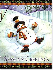 Christmas Note Card Set<BR/>12 of 1 design - May your holidays be happy days! | Michael Stoebner | 92105 | Leanin' Tree