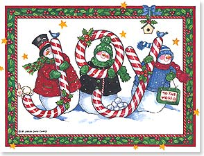 Christmas Note Card Set<BR/>12 of 1 design - Sweet and Happy Holiday Wishes | Sandi Gore Evans | 92107 | Leanin' Tree
