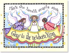 Christmas Note Card Set<BR/>12 of 1 design - Hark the Herald Angels Sing | Karla Dornacher | 92110 | Leanin' Tree