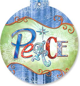 Christmas Ornament Card - Peace | Connie Haley | 92113 | Leanin' Tree