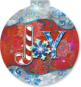 Christmas Ornament Card - Joy | Connie Haley | 92114 | Leanin' Tree