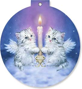 Christmas Ornament Card - Meowy Christmas | Kayomi Harai | 92130 | Leanin' Tree