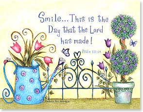 Easter Note Card Set<BR/>8 of 1 design - The Lord made this day: Psalm: 118:24 | Barbara Ann Kenney | 92167 | Leanin' Tree