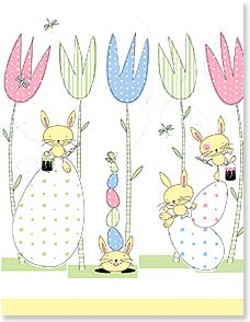 Easter Note Card Set - Hippity Hoppity Easter Fun | Little Star Soup | 92168 | Leanin' Tree