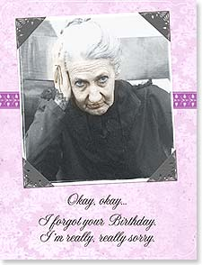 Belated Birthday Card - Oops...I Forgot! | Maggie Mae Sharp | 92176 | Leanin' Tree