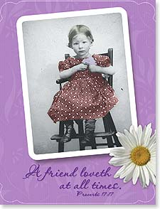 Friendship Card - Friends Love at all Times | Maggie Mae Sharp | 92178 | Leanin' Tree