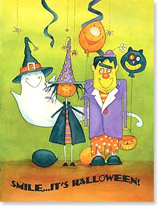 Halloween Note Card Set - Hope your Halloween is a good time! | Julie Dobson Miner | 92185 | Leanin' Tree