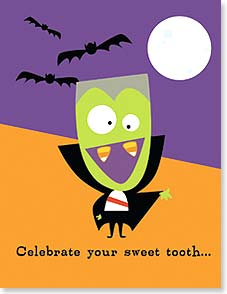 Halloween Note Card Set - Celebrate your sweet tooth  | Michael Rhoda | 92186 | Leanin' Tree