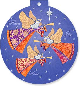 Christmas Card - May blessings come on angel's wings. | Gerry Murray Designs | 92223 | Leanin' Tree