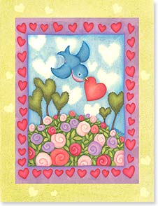 Valentine's Day Note Card Set - Just a little wish for lots of love... - 92245 | Leanin' Tree