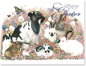 Easter Note Card Set - Sending some warm fuzzies your way! | June Payne Hart | 92253 | Leanin' Tree