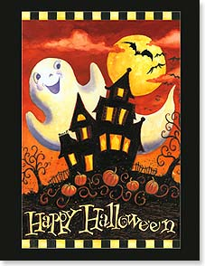Halloween Note Card Set<BR/>8 of 1 design - Smiles as bright as the moon and as wide as the sky! | Geoff Allen | 92288 | Leanin' Tree