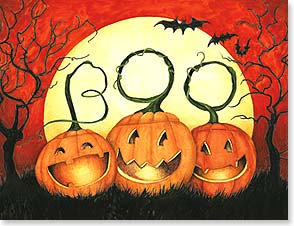 Halloween Note Card Set<BR/>8 of 1 design - Just wanted to send a smile...or three your way! | Susan Winget | 92289 | Leanin' Tree