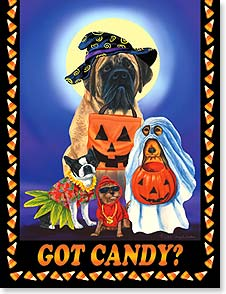 Halloween Note Card Set<BR/>8 of 1 design - Go fetch some fun! | Mary Lou Troutman | 92290 | Leanin' Tree