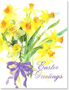 Easter Note Card Set<BR/>8 of 1 design - Best wishes for a bright and delightful spring. | Gail Flores | 92364 | Leanin' Tree