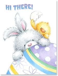 Easter Note Card Set - A wish for an egg-ceptionally fun and happy Easter! | Makiko | 92365 | Leanin' Tree