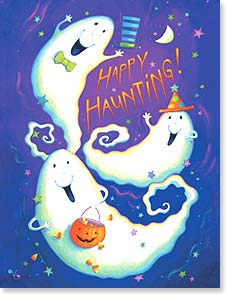 Halloween Note Card Set<BR/>8 of 1 design - Hope you get to scare up some Halloween fun! | Viv Eisner | 92371 | Leanin' Tree
