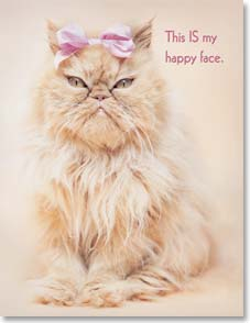 Birthday Card - Another #*$% birthday?!  Try to put a happy face on it. | Rachael Hale® | 95128 | Leanin' Tree