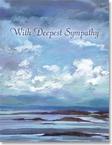 Sympathy Card - May cherished memories bring you peace. | Nel Whatmore | 95206 | Leanin' Tree
