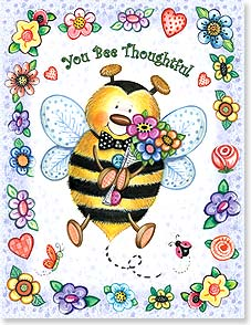 Thank You & Appreciation Card - You Bee Thoughtful - I Bee Thankful | Debra Jordan Bryan | 95224 | Leanin' Tree