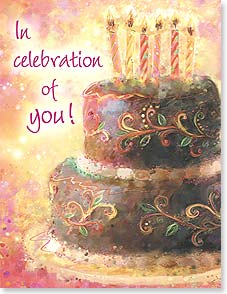 Birthday Card - In celebration of you!  Happy Birthday | Connie Haley | 95233 | Leanin' Tree